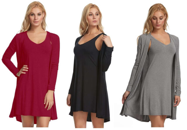 NEW Carole Hochman Ladies/' Chemise /& Robe Set SELECT SIZE/&COLOR FREE SHIPPING