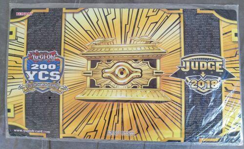 Sealed Yugioh Game Mat Gold Sarcophagus 200th YCS Judge Playmat Utrecht