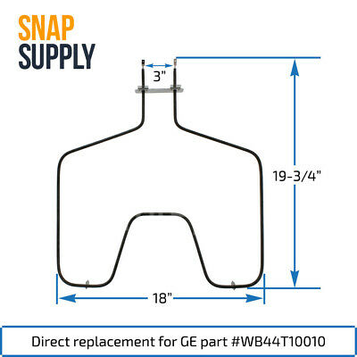 Snap Supply Bake Element for GE Directly Replaces WB44X10013