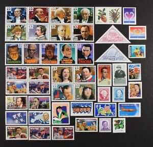 US 1997 Commemorative Year Set, 108 stamps, incl. 4 sheets Mint NH, see scans