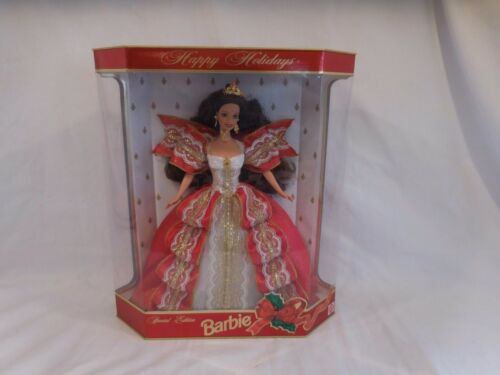 """Barbie"" Happy Holidays Christmas 1997 Mattel #17832 Special Edition Doll New"