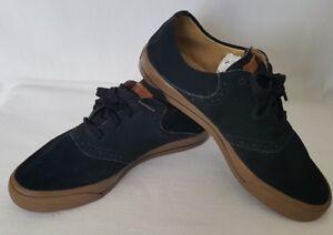 Ashworth-Homme-noir-en-cuir-a-lacets-basse-Montantes-Chaussures-De-Golf-UK-8-5-EU-42