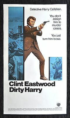 DIRTY HARRY * CineMasterpieces 3SH ORIGINAL MOVIE POSTER GUN CLINT EASTWOOD 1971