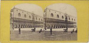 Venezia-Italia-Palais-Ducale-Vintage-Stereo-Albumina-Ca-1868