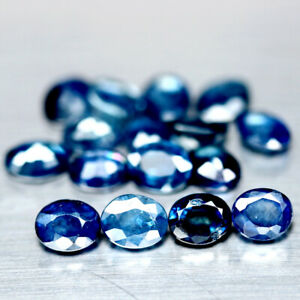 7-20-Carats-16pcs-4-0x5-0mm-Oval-Natural-Blue-SAPPHIRE-for-Jewelry-Setting