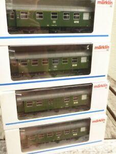 Maerklin-4317-2-x-4318-4319-4-x-Umbauwagen-der-DB-Epoche-3-mit-Licht-sehr-gut