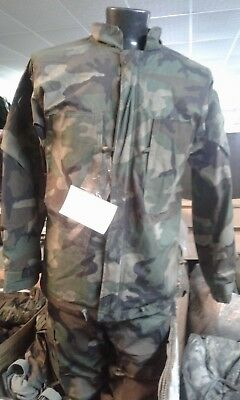 USGI Military Hazmat NBC 2pc Top Bottom Suit 6 Color Desert Camo Size Large MOPP