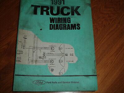 1991 Ford F600 F700 B600 B700 COWL Electrical WIRING ...