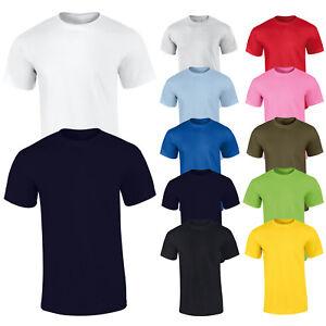 Camiseta-de-hombre-Basico-Camiseta-Casual-Mitad-Manga-Corta-Sueter-100-Algodon