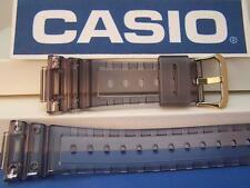 Casio Watch Band DW-5025 D-8V. Fits G-Shock DW-5600E Smoke Gray Clear gold tone