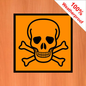 Poison skull and crossbones sticker DANG034 Warning labels and hazard notices