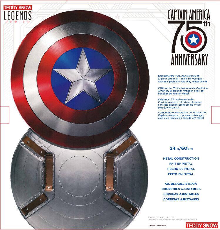 Captain America 75th 75th 75th Anniversary Avengers Shield Alloy Metal 1 1 Collection f8ebc2