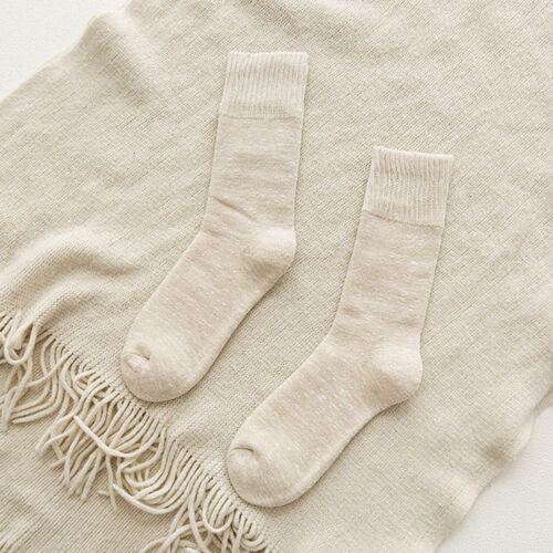 Knit Socks Women Cotton Thick Loose Socks Soft Casual Mid Calf Length Socks