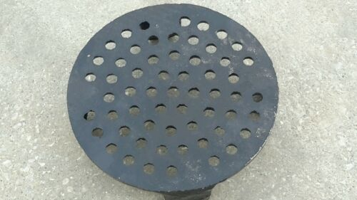 "New Perforated Grate//Strainer Cast Iron Fits 6/"" Clay Pipe"