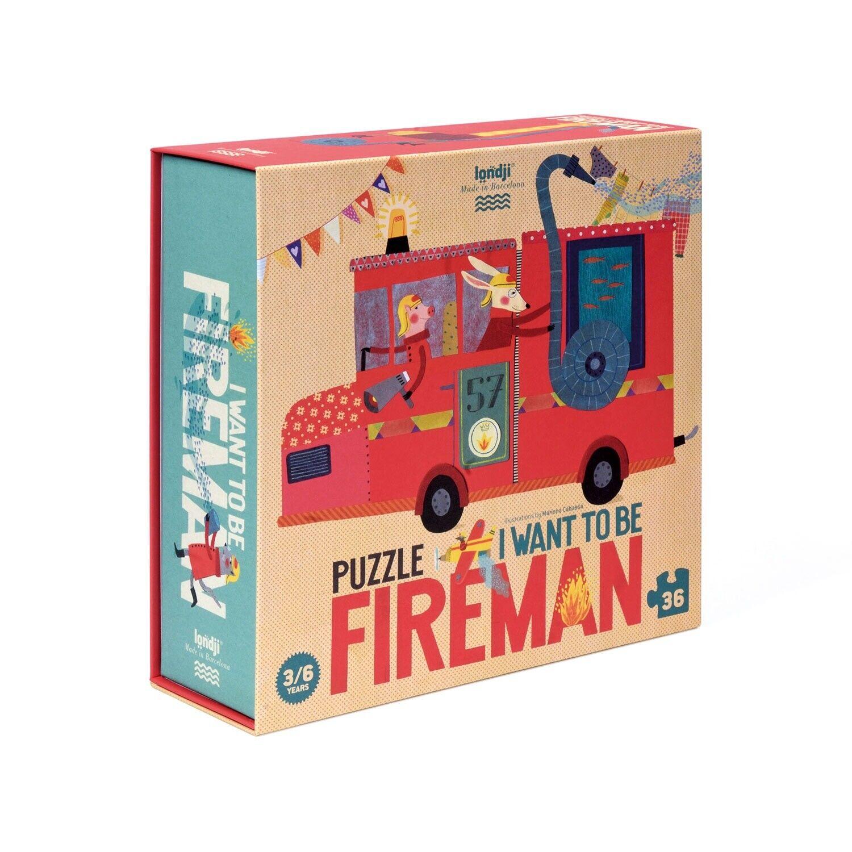 LONDJI Jigsaw Puzzle - I Want to be .Fireman