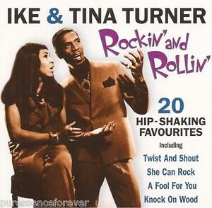IKE-amp-TINA-TURNER-Rockin-039-And-Rollin-039-UK-20-Tk-CD-Album