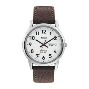 New-Timex-Men-039-s-Easy-Reader-Brown-Leather-Watch-T20041