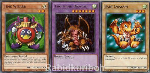 Baby Dragon Yugioh Thousand Dragon Time Wizard Set Lot