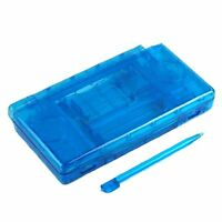 Nintendo Ds Lite Full Replacement Housing Shell Screen Lens Clear Blue Us