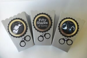 50-Shades-of-Gray-Party-Favor-Sweet-Table-popcorn-candy-box-SET-OF-10