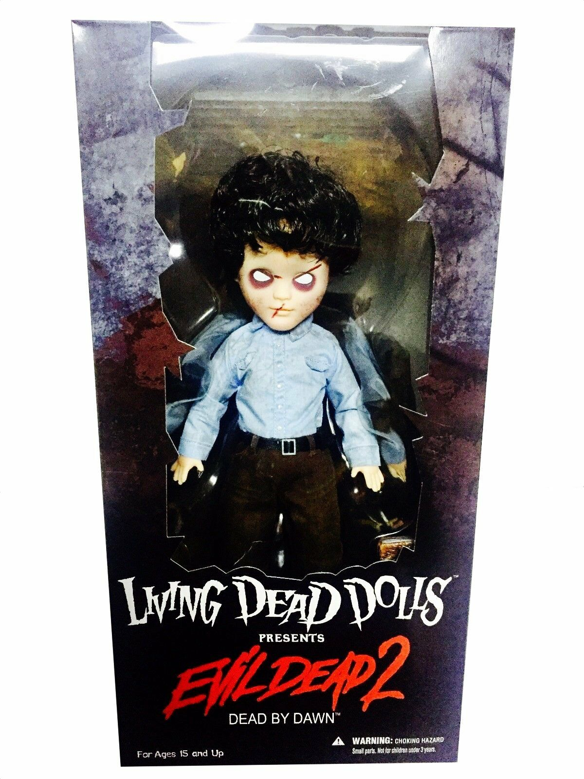 Evil Dead 94712  Living Dead Dolls Presents Ash Zombie Variant  Figure