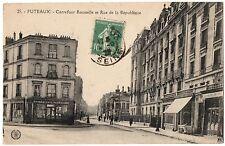 CPA 92 - PUTEAUX (Hauts de Seine)  Carrefour Rousselle et rue de la République
