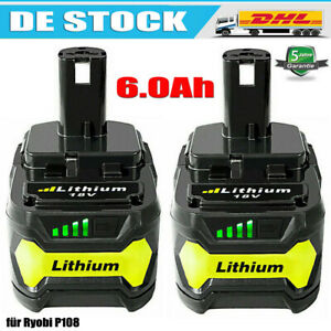 18V-6-0Ah-Fuer-Ryobi-One-Plus-P108-Lithium-Batterie-RB18L50-P104-P780-RB18L40-DE