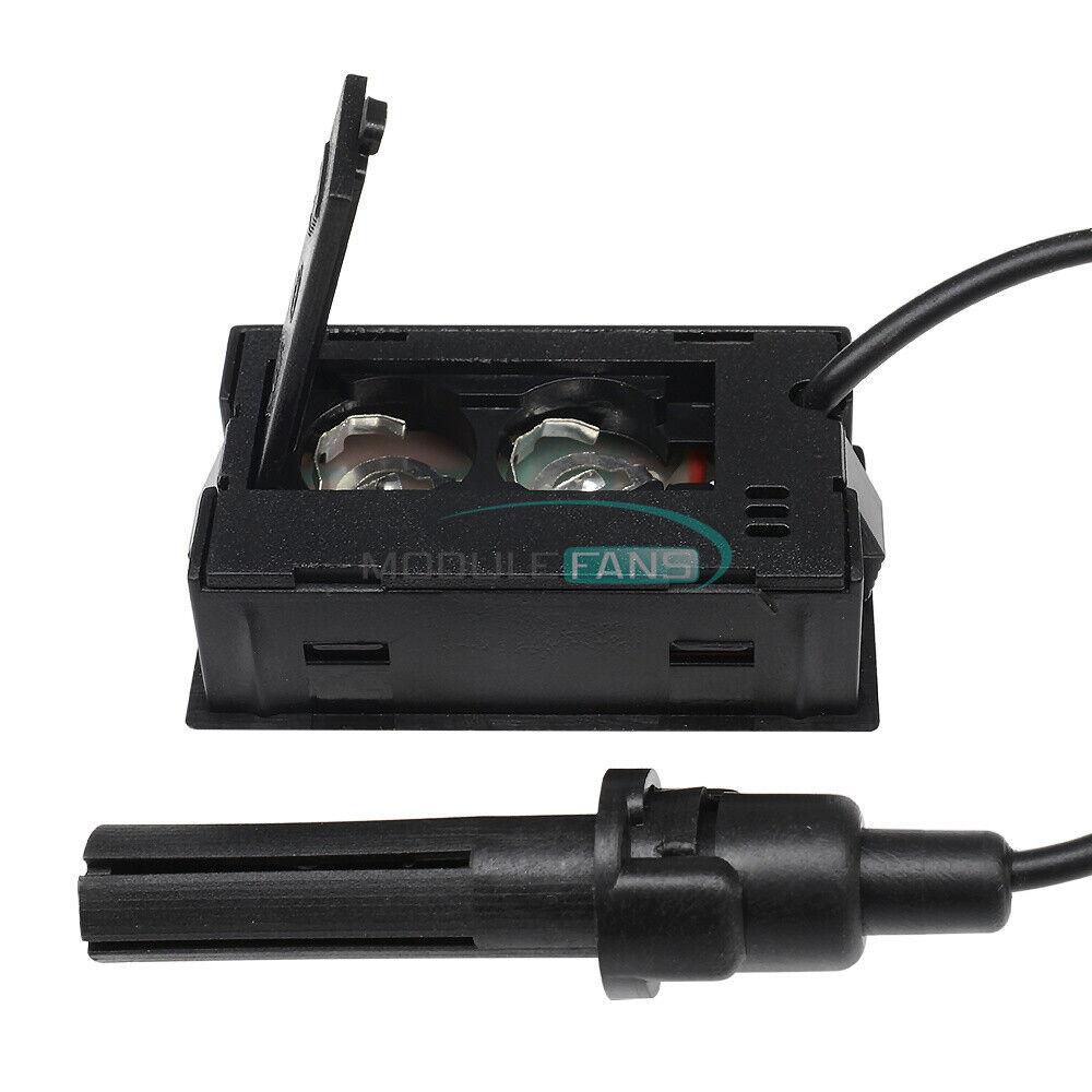 Indoor Embedded LED Digital Display Thermometer & Hygrometer W/ Probe 1.5 Meters