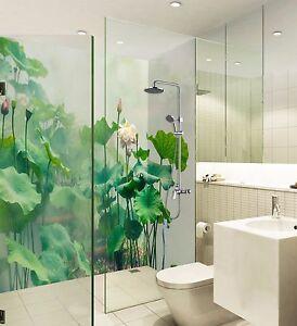 Details zu 3D Lotusblatt Tapete Badezimmer Drucken Abziehbild Mauer Deco AJ  WALLPAPER DE
