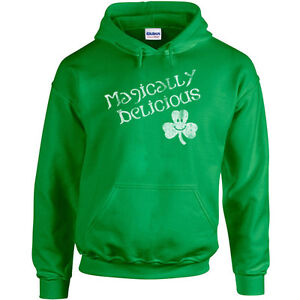 106 Magically Delicious Hoodie funny irish ireland beer party st. patricks new