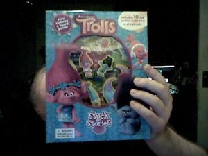 Disney Trolls Stuck On Stories Inc Boardgame Leisure Birthday Free Uk Post Ebay