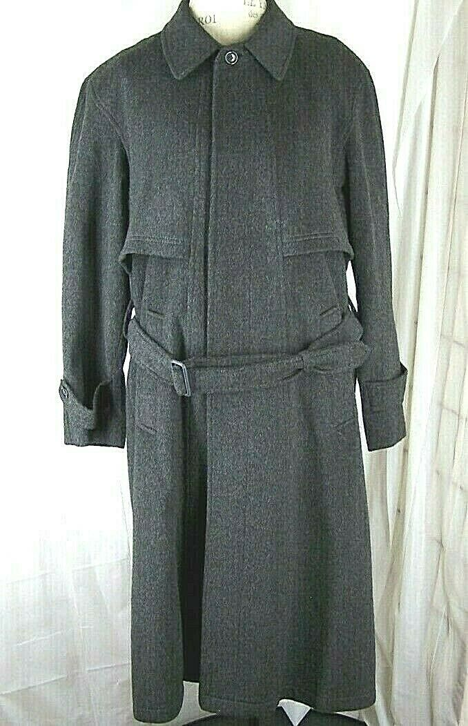 DISTLER AUSTRIAN TIROL BAUR LODEN Wool Trachten Long Belted Men's Over Coat 48