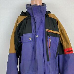 ad4647355 Obermeyer Mens Roll Up Hood Ovation Ski Jacket Size L Tall Vtg 90s ...