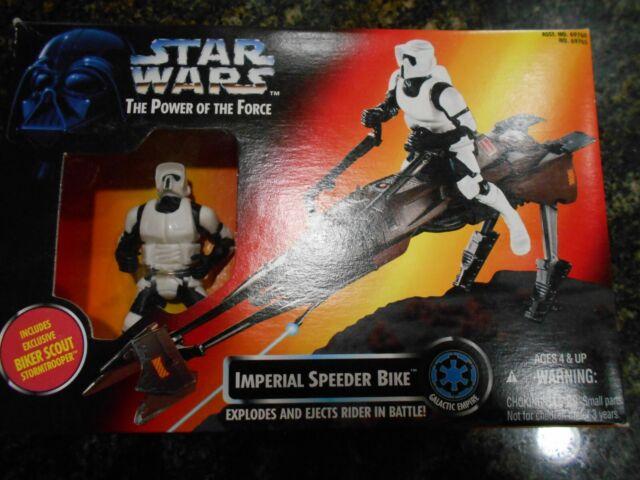 1995 Star Wars tpotf Imperial Speeder Bike with Exclusive Biker Scout Stormtrooper
