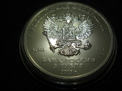 2018 Russia 1 oz Silver 3 Roubles Saint George the Victorious BU SKU#174845