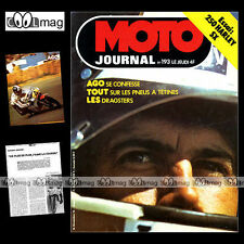 MOTO JOURNAL N°193 HARLEY 250 SX YAMAHA DT 250 BICROSS MOTO-BIKE AGOSTINI 1974