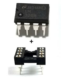 1PCS-National-Semiconductor-LM308N-LM308-Socket-Precision-Op-Amp-New-IC