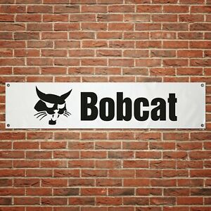 Bobcat Banner Garage Workshop PVC Sign Skid Steer Display