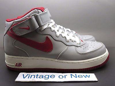 VTG Nike Air Force 1 Mid Medium Grey Varsity Red White 2003 sz 7.5 | eBay