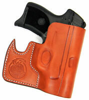 CEBECI FRONT POCKET BROWN LEATHER CCW CONCEALMENT HOLSTER - RUGER LC9 LC9S LC380