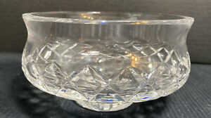 Waterford-Crystal-Lismore-Bowl-Footed-Candy-Nut-Trinket-Dish-Signed