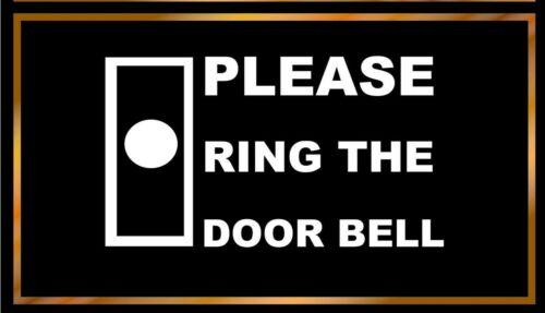 1 x please ring the door bell sticker 90mm x 100mm for door window
