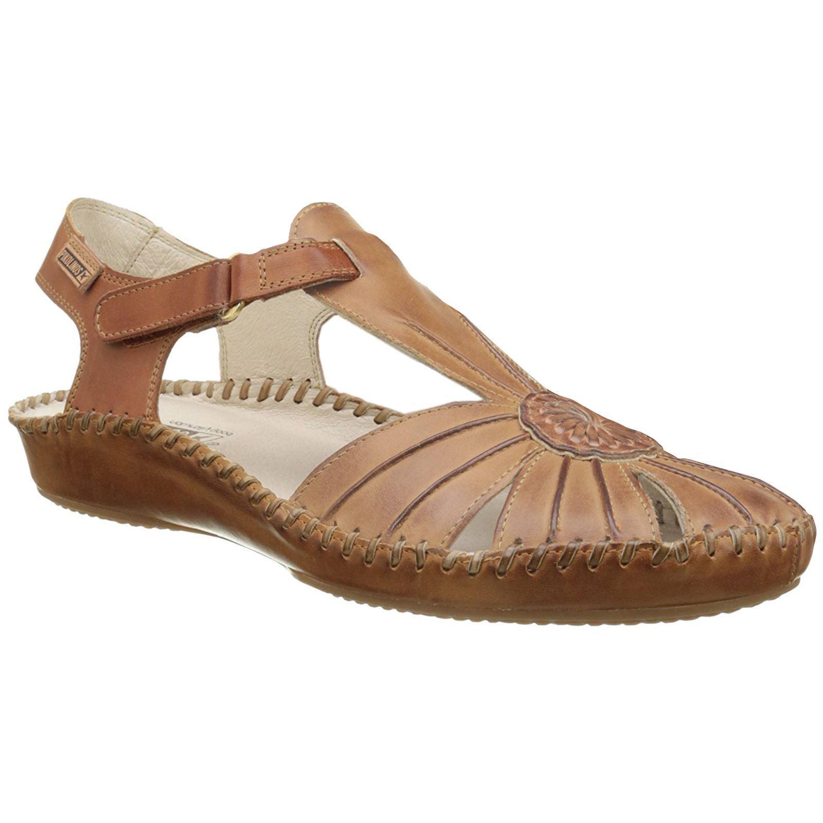 Pikolinos Puerto Vallarta 655-8899C1 Ivory Womens Leather T-Bar Sandals- 39/9