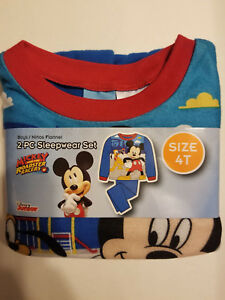 de18523d1 Disney Mickey Mouse Toddler Boys 2pc Pajamas Set Sizes-2T