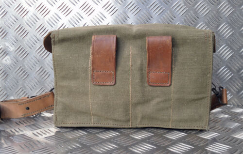 Laterale In Vintage Borsa Pelle Originale Militare Francese Cartella Fodera 6wcSU8WCq