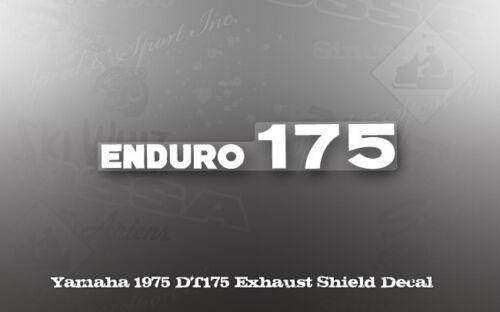 YAMAHA 1975 DT175 ENDURO OIL TANK  DECAL GRAPHIC LIKE NOS OEM