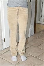 luxueux pantalon cuir peau marron CLAUDIE PIERLOT taille 0 36