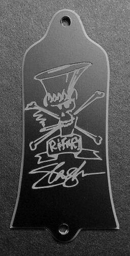 Engraved GIBSON USA Guns N Roses SLASH GUITAR TRUSS ROD COVER BLACK SILVER