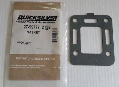 2Set For MerCruiser Exhaust Elbow Riser Gasket Kit Aftermarket Replace 27-863726