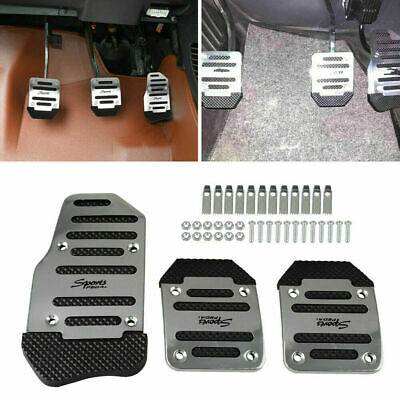and Accelerator Pedal Pad Set of 3 Pads ALUMINUM New Brake Clutch